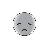 Sad Cartoon Face Negative People Emotion Icon. Vector Illustration Royalty Free Stock Photography