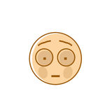 Sad Cartoon Face Shocked Negative People Emotion Icon Stock Photography