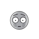 Sad Cartoon Face Shocked Negative People Emotion Icon Stock Photos