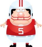 Sad Cartoon Football Player. A cartoon illustration of a football player looking sad Stock Photography