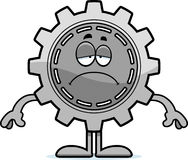 Sad Cartoon Gear Stock Photography