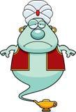 Sad Cartoon Genie. A cartoon illustration of a genie looking sad Stock Photography