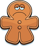 Sad Cartoon Gingerbread Man Stock Photos