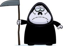 Sad Cartoon Grim Reaper Stock Photo