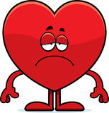 Sad Cartoon Heart Stock Photo