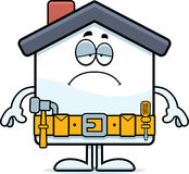 Sad Cartoon Home Improvement Stock Images
