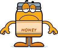 Sad Cartoon Honey Jar Royalty Free Stock Image
