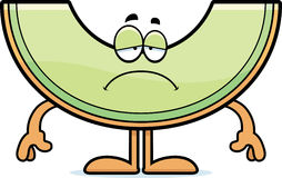 Sad Cartoon Honeydew Royalty Free Stock Image