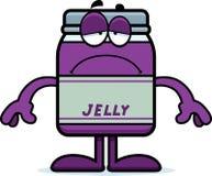 Sad Cartoon Jelly Jar Royalty Free Stock Image