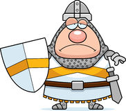 Sad Cartoon Knight Stock Image