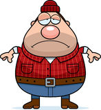 Sad Cartoon Lumberjack Royalty Free Stock Image