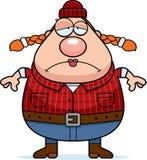 Sad Cartoon Lumberjack Stock Image