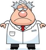 Sad Cartoon Mad Scientist Royalty Free Stock Photo