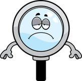 Sad Cartoon Magnifying Glass Stock Photos