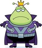Sad Cartoon Martian King Royalty Free Stock Image