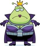 Sad Cartoon Martian Queen Royalty Free Stock Photos