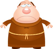 Sad Cartoon Monk Royalty Free Stock Images