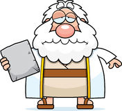 Sad Cartoon Moses Stock Image
