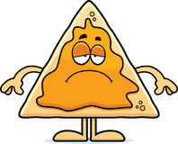 Sad Cartoon Nachos Royalty Free Stock Photos