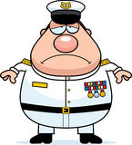Sad Cartoon Navy Admiral Stock Photography