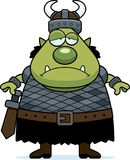Sad Cartoon Orc Royalty Free Stock Photos