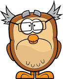 Sad Cartoon Owl Royalty Free Stock Photography