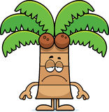 Sad Cartoon Palm Tree Royalty Free Stock Photo