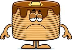 Sad Cartoon Pancakes Stock Photos