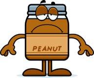 Sad Cartoon Peanut Butter Royalty Free Stock Image