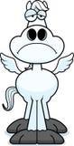 Sad Cartoon Pegasus Royalty Free Stock Photos