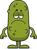 Sad Cartoon Pickle Stock Image