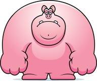 Sad Cartoon Pig Stock Images