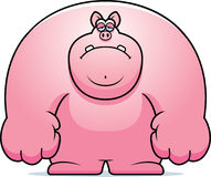 Sad Cartoon Pig. A cartoon illustration of a pig looking sad Stock Images