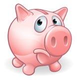 Sad Cartoon Piggy Bank. Character concept Stock Photography