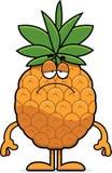 Sad Cartoon Pineapple Royalty Free Stock Photography