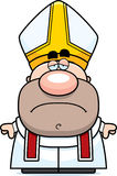 Sad Cartoon Pope Royalty Free Stock Images