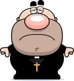 Sad Cartoon Priest Royalty Free Stock Photos