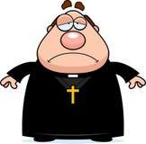 Sad Cartoon Priest Royalty Free Stock Photo