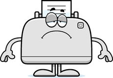 Sad Cartoon Printer Royalty Free Stock Images
