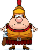 Sad Cartoon Roman Centurion Stock Image