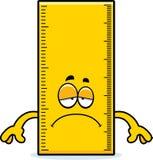 Sad Cartoon Ruler stock illustration