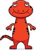 Sad Cartoon Salamander Stock Images