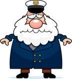Sad Cartoon Sea Captain Stock Photos