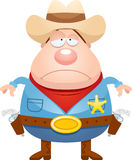 Sad Cartoon Sheriff Royalty Free Stock Image