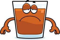 Sad Cartoon Shot Glass Royalty Free Stock Photos