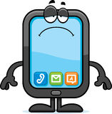 Sad Cartoon Smartphone Royalty Free Stock Image