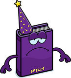Sad Cartoon Spell Book Stock Images