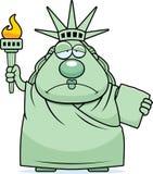 Sad Cartoon Statue of Liberty Royalty Free Stock Photos