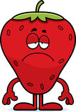 Sad Cartoon Strawberry Stock Photo