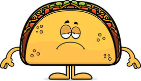 Sad Cartoon Taco Stock Images